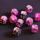 15mm Toxic Spot Dice - Pink / Black